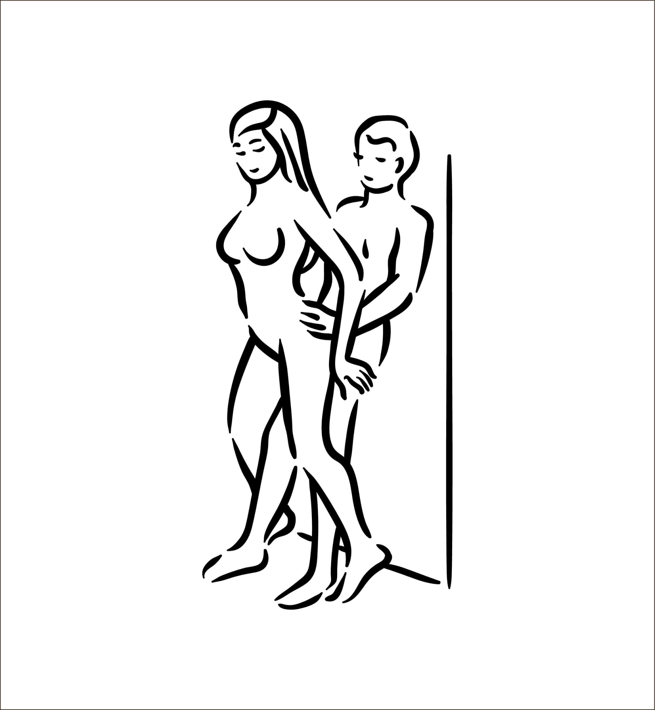 erecție în poziție în picioare